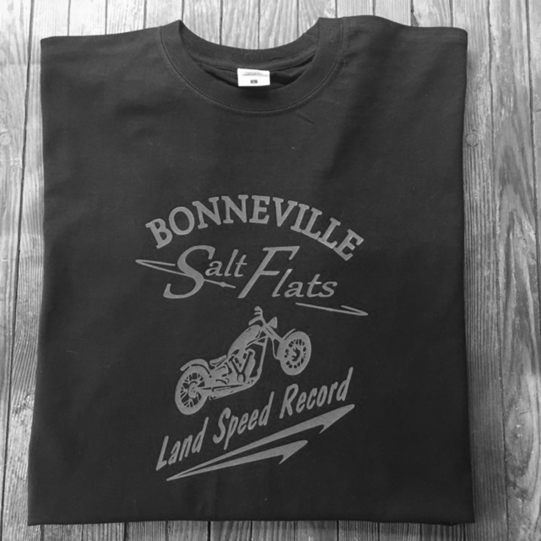 T shirt design quad cities - Bonneville Salt Flats Motorcycle Racing T Shirt Motorbike Triumph Norton Bsa Harley Davidson
