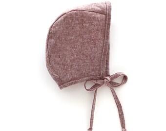 Rust Bonnet (Linen/Cotton blend)