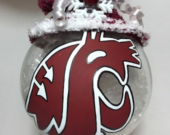 Washington State University Cougars Christmas Ornament
