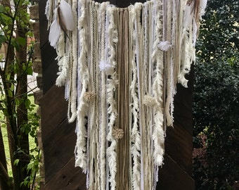 SOLD! The Bull skull yarn wall hanging