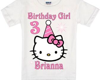 Hello Kitty Birthday Shirt Peronalized