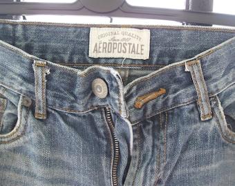 Men's Distressed Denim Jeans Size 29/32 Aeropostale  Denim Jeans Distressed Clothing free shipping in  usa