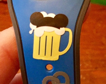 FREE SHIPPING Mickey or Minnie Beer, Wine, or Margarita and Pretzel Magic Band Decals!