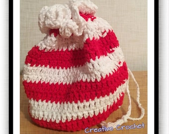 Candy Cane Stripe Handy Bag