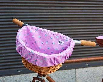Bike basket, Candy violet basket, Bike basket with liner, Basket for bike, Wicker bike basket, Baskets with liner, Wicker basket, Pet basket