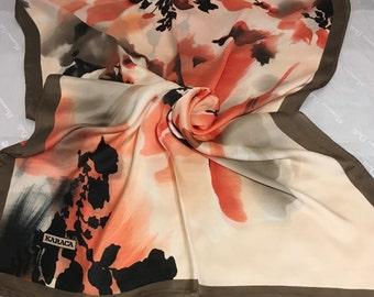 Silk Scarf , shawl ,scarf ,scarfs ,turkish shawl ,Turkish scarf ,made in Turkey ,orange ,brown  ,beige ,black ,multicolored scarf.
