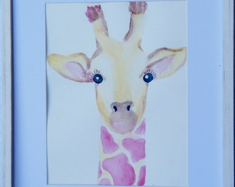 Preppy Giraffe Watercolor