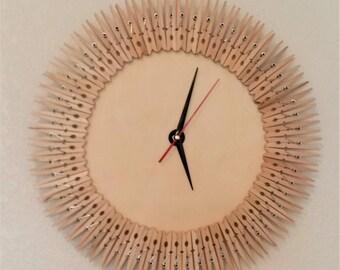 Clothes Pins Clock