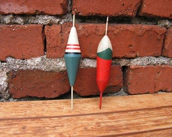 Vintage Fishing Floats Large Colorful Floats Old Fishing Accessories 1950s Floats Big Coarse Fishing Floats