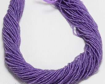 100 % Natural Amethyst Faceted Rondelle Beads AAA Quality 2 MM Size 13 Inch Strand