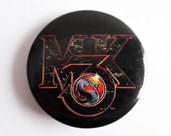 "Mortal Kombat 3 - 1.5"" Pin Back Button Badge"