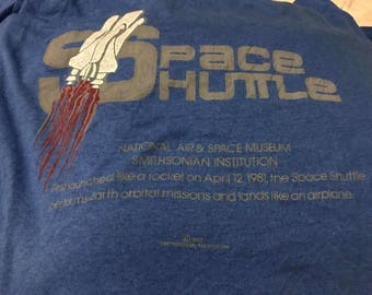 Vintage NASA Shirt Size XL Free Shipping 80s Space Shuttle 50 Cotton Made In Usa Screen Stars National Aeronautics and Space Administration