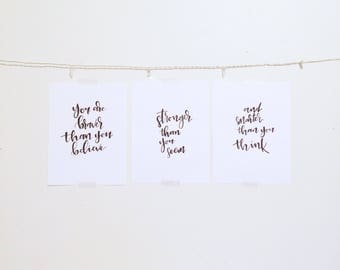 Winnie the Pooh print 'You are braver than you believe, stronger than you seem and smarter than you think'