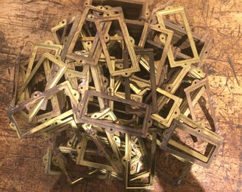 Vintage Brass Label Holders -- Large Quantity!