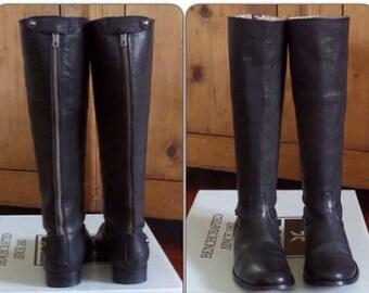 Frye Women's Melissa Button Back Zip Womens Knee High Boots Black - UK 3 / EU 36