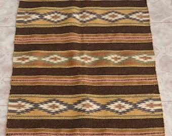 """Navajo Wide Ruins Wool Rug by Charlene Begay 18"""" x 25"""""""