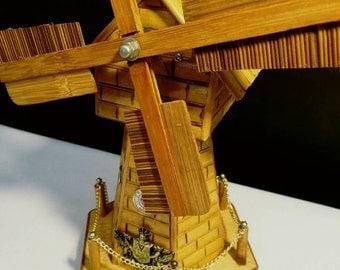 Vintage Windmill Music Box And Savings Bank by S Sper Bijou