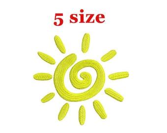 Sun Embroidery Design. Sunshine Design. Sun Mini Embroidery. Sun pattern. Summer Embroidery. Machine Embroidery Design. Mini Sun Design.