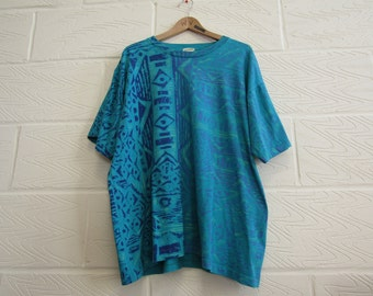 Bright 90s Print Tshirt - XL