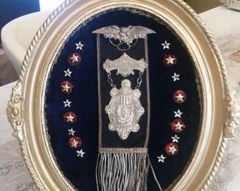Vintage ioof Oddfellows Medal Badge Pin Ribbon
