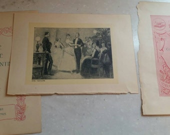 Abbe Constantin original book prints ephemera, lot of 7 pages