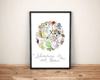 INSPIRING PRINTS. Perfect & satisfying interior decoration for your home. children, colorful, painting, animal, abc, alphabet, educational