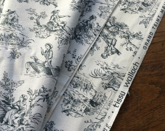 Beautiful vintage toile de jouy fabric