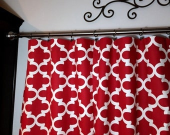 SALE! -  Red Curtains - Designer Curtains  Panels - Red Window Curtains - Window Curtain Panels - Window Treatments - Drapes