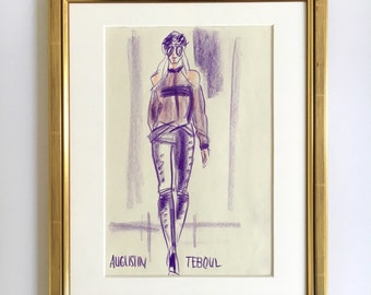 "Fashion illustration original ""AUGUSTIN TEBOUL II"""