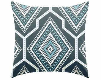 teal blue pillow teal pillow - pillow cover only - cushion cover -ZIPPER CLOSURE