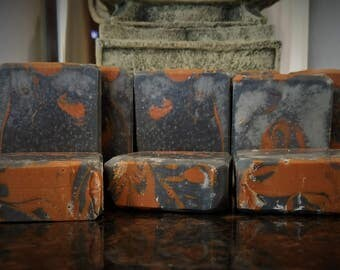 Tea Tree Activated Charcoal & Red Moroccan Clay Face Soap Facial Soap Activated Charcoal Soap Detox Soap Acne Soap Bar Soap