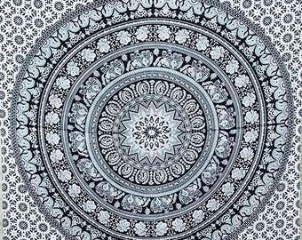 Free Shipping!!! Twin Black And White Tapestries Indian Dorm Decor