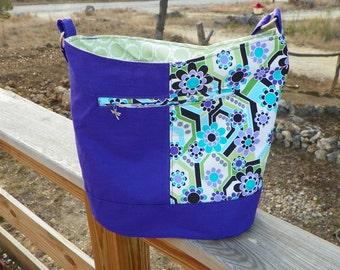 Purple/Mint Bonnie Bag Medium