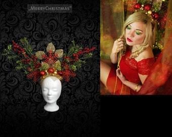 "Headdress ""MerryChristmas"" Christmas head dress"