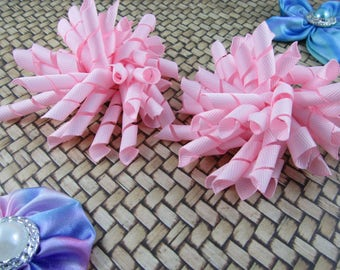 Korker Bow Hair Clip - Set of 2 - Pinks
