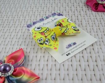 Pinwheel Hair Bow Clip - Spongebob