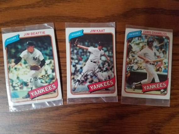 Topps ***RARE*** Baseball Trading Cards lot New York Yankees