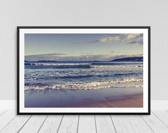 Beach Decor, Beach Wall Art, Ocean Waves Water Photograph, Ocean Art, Beach Ocean Sunset, Digital Printable, Instant Download