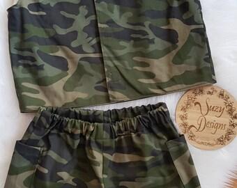 Boy's Camouflage Vest & Shorts set Size 2