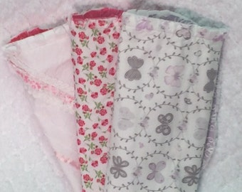 Baby burp cloths set of 3