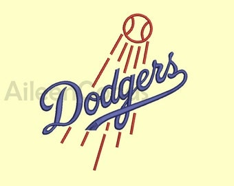 Angeles Dodgers Embroidery design 9 Size  INSTANT download machine embroidery