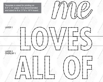 All of me loves all of you - String art template