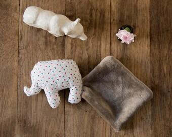 Doudou Elephant - Fabric color triangle