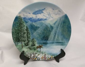 "Collectors Plate ""Misty Morning at Mount McKinley"""