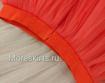 Tulle skirt with rubber inserts