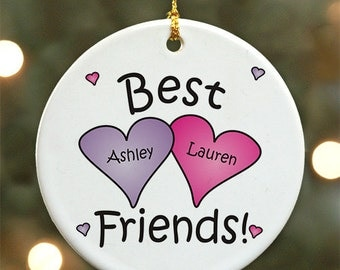 Best Friends Personalized Ornament - Personalized with Names