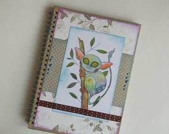 Tarsius Notebook - A5 Journal - Blank Notebook - Funny Notebook - Tarsius Notepad -  A5 School Notebook - Spiral Journal - Dots Notepad