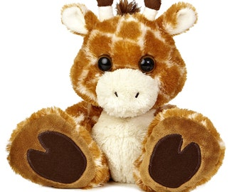 Personalized Keepsake Giraffe/Birth Announcement/ Personalized Plush Animal/ Personalized Birthday/ Personalized Baby Shower