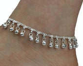 Stunning Heavy Bell Ankle Chain Anklet Indian Payal Bellydance Wedding Anklets Single OR Pair