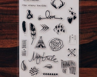 Love Life Stamps for Traveller's Notebook, Journal Accessories